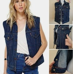 Levi Strauss Vest Jean denim vintage vest small
